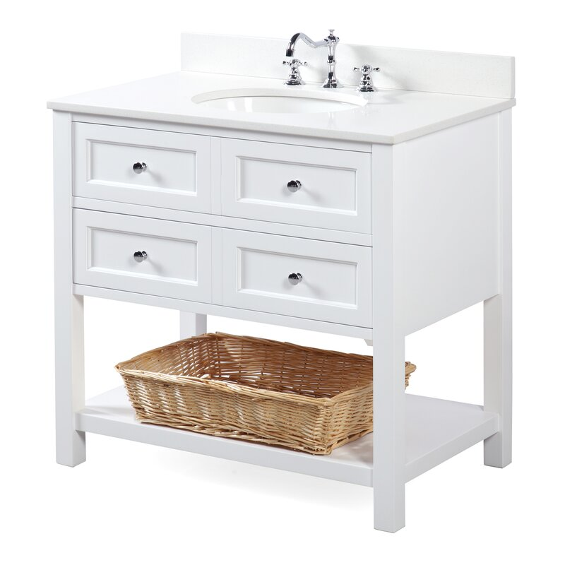 "kbc new yorker 36"" single bathroom vanity set & reviews 