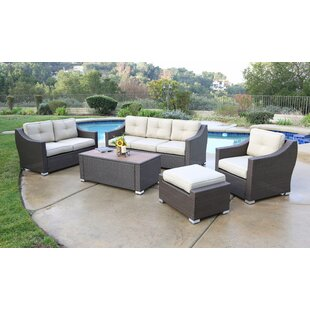 Suai 5 Piece Rattan Sectional Set with Cushions By Brayden Studio