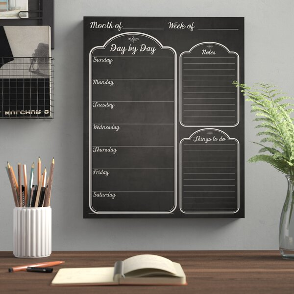 Day by Day Wall Mounted Dry Erase Board