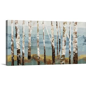 Birch Reflection by Allison Pearce Painting Print on Canvas by Great Big Canvas
