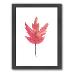 'Leaf 3' Framed Painting Print by East Urban Home