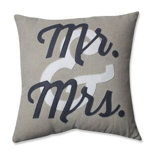 Mr. And Mrs. Throw Pillow