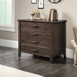 Wood Flat File Cabinet | Wayfair
