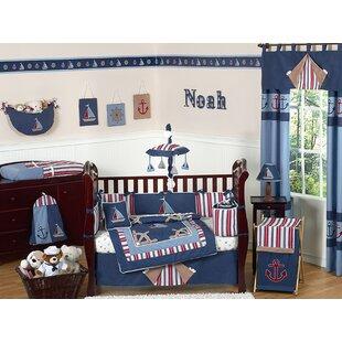 Nautical Nights 9 Piece Crib Bedding Set