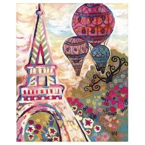 Ballons Sur Paris by Natasha Wescoat Painting Print by Prestige Art Studios