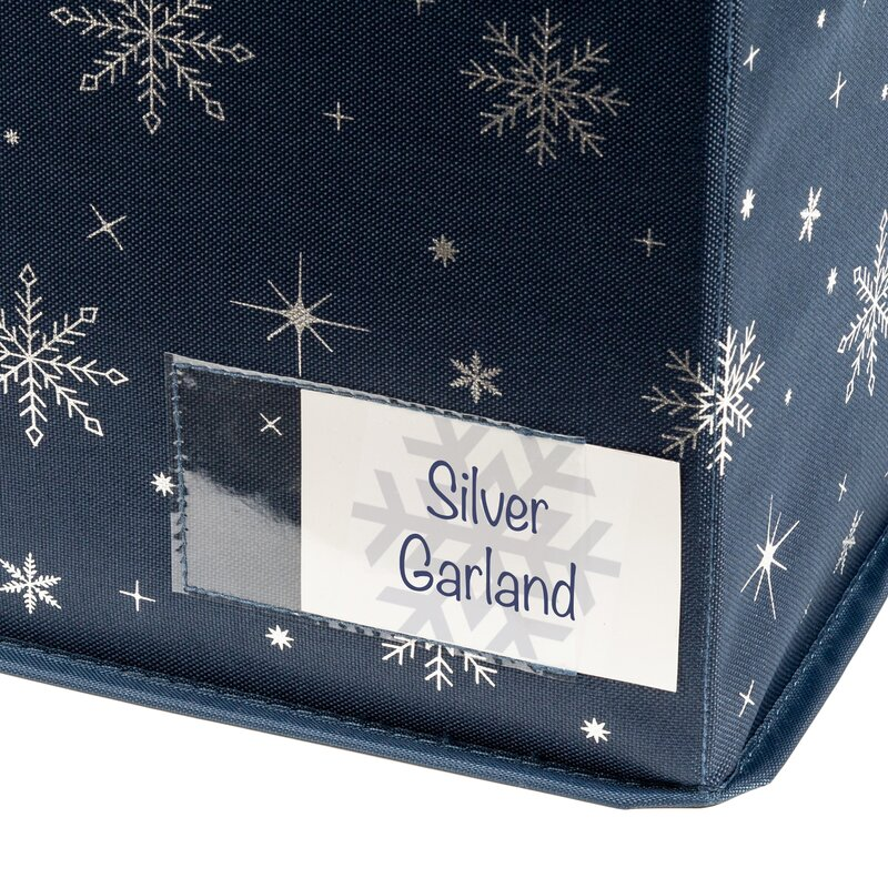 Small, Brown Cute Multi Dog Breeds in Festive Christmas Attire Decorative Holiday Storage Gift Box with Fabric Handles