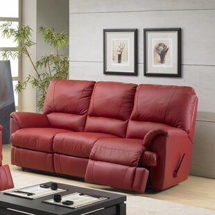 Mylaine Leather Reclining Sofa