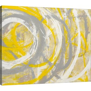 Yellow Aura by Erin Ashley Framed Graphic Art Print on Canvas by Mercury Row