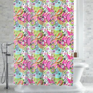Hickerson Lilly Paisley Floral Print Shower Curtain