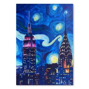 Starry Night in New York Painting by East Urban Home