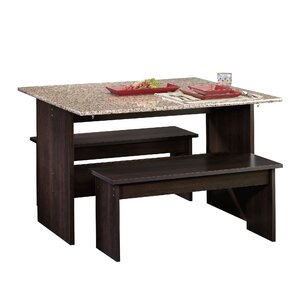 dining room table sets with bench. Kingstown 3 Piece Dining Set Bench Kitchen  Room Sets You ll Love Wayfair