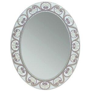 Earthtone Mosaic Accent Bathroom Vanity Wall Mirror