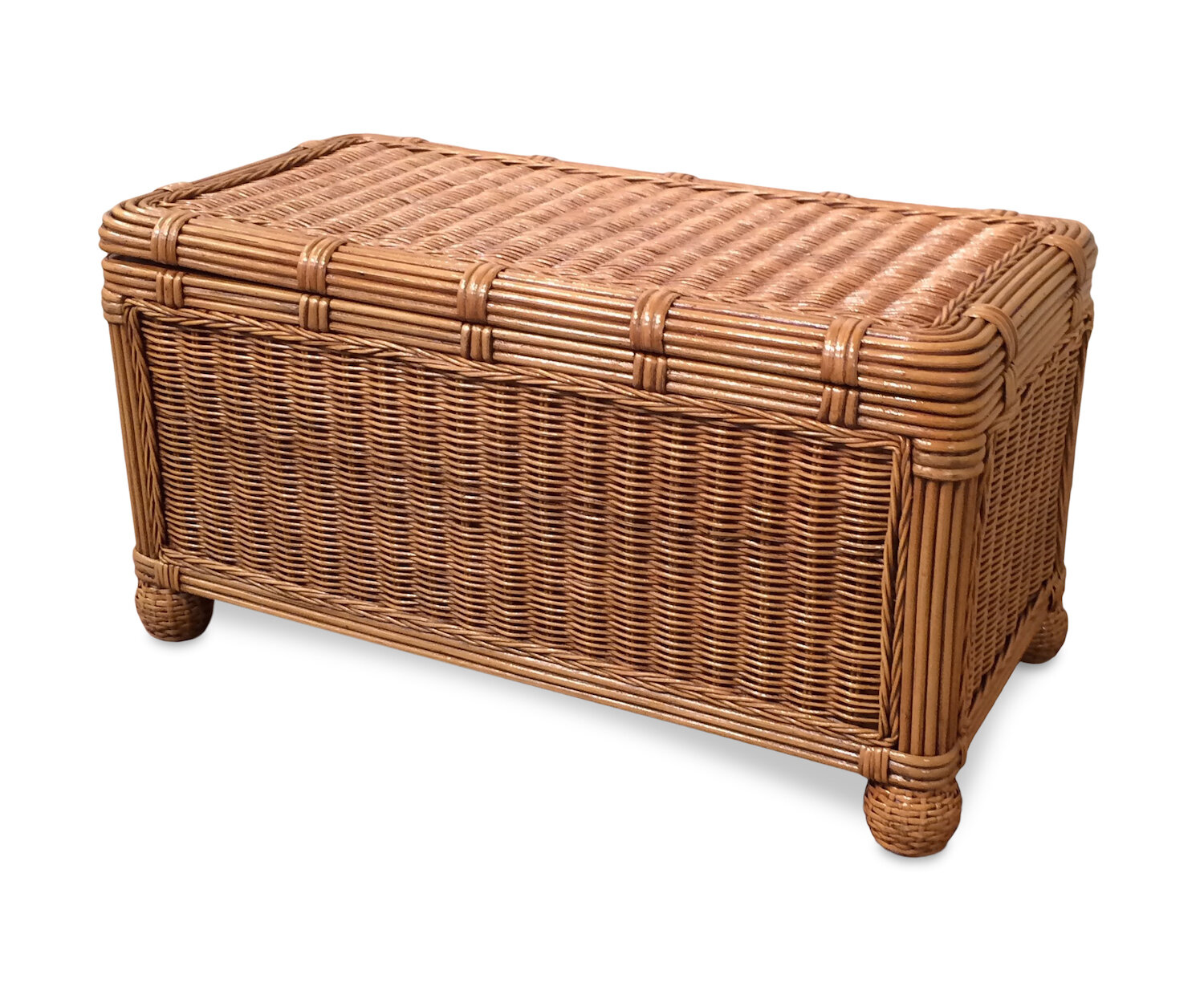 Beachcrest Home Astley Wicker Trunk Reviews Wayfair