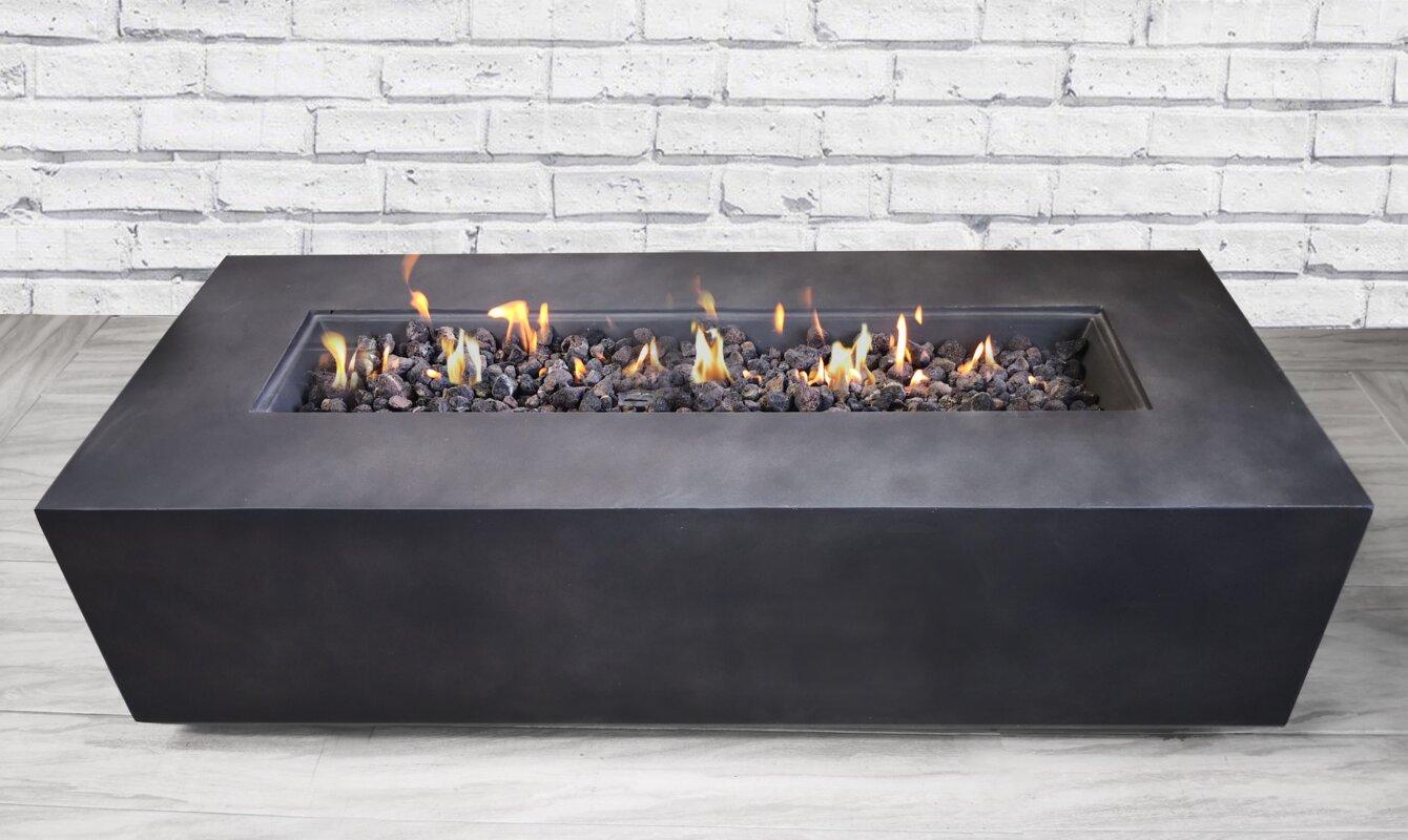 livingsourceinternational santiago concrete propane fire pit table reviews. Black Bedroom Furniture Sets. Home Design Ideas