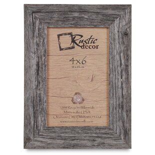 distressed wood picture frames cream kaison barn wood reclaimed standard picture frame rustic frames youll love wayfair