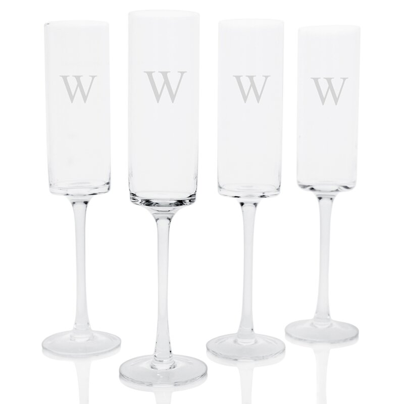 cathys concepts personalized champagne flute reviews wayfair