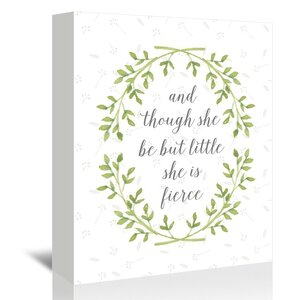 Fierce Green Wreath Graphic Art on Wrapped Canvas by Viv + Rae