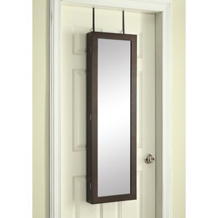 Affordable Jan Paige Over the Door Jewelry Armoire with Mirror ByAlcott Hill