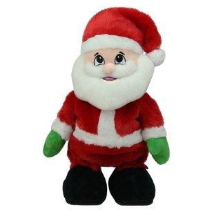 89da585343d Animated Tickle  n Laugh Santa Claus Plush Christmas Figurine (Set of 6)
