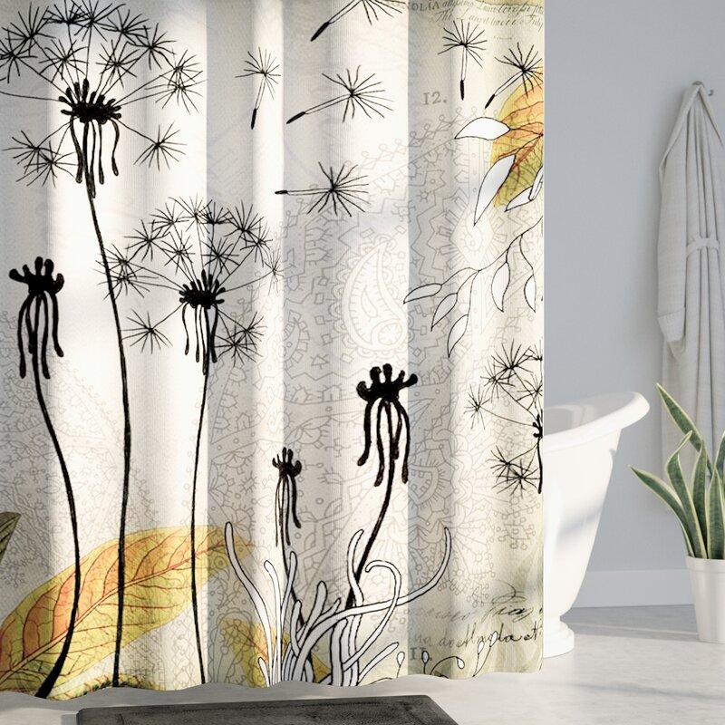 Latitude Run Herkimer Little Dandelion Shower Curtain Reviews