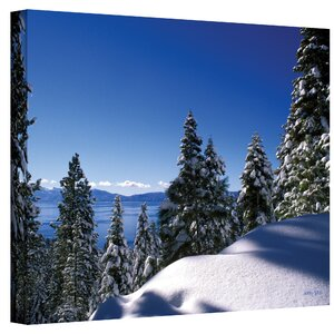 'Lake Tahoe in Winter' by Kathy Yates Photographic Print on Canvas by ArtWall