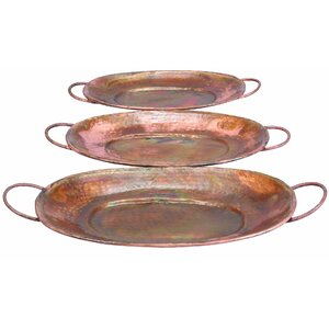 3 Piece Metal Tray Set