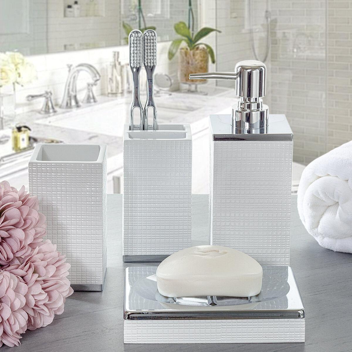 Despain 4 Piece Bathroom Accessory Set