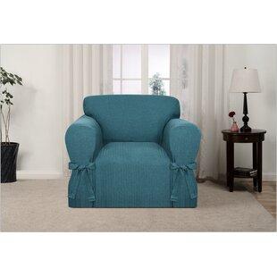 Charmant Teal Chair Slipcover | Wayfair