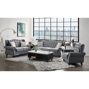 Janik 3 Piece Standard Configurable Living Room Set by Canora Grey