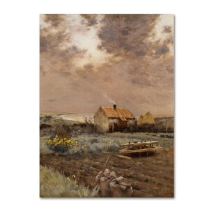 Landscape 1880 Painting Print on Wrapped Canvas by August Grove