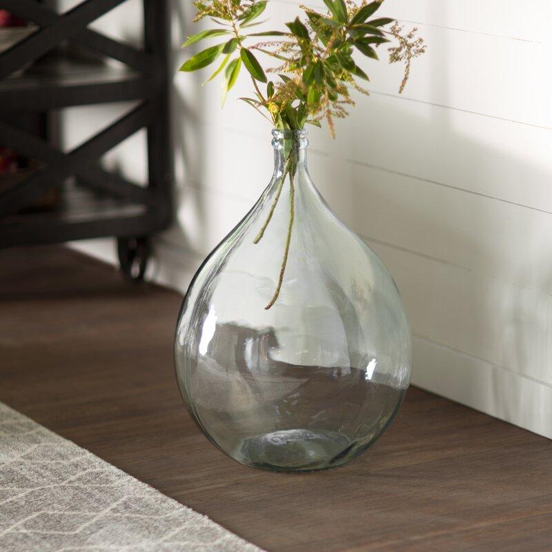 European Recycled Glass Bistro Glass Vase