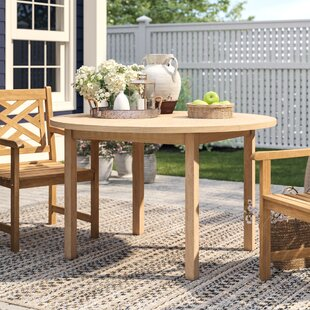 Find the perfect Summerton Teak Round Dining Table ByBirch Lane™