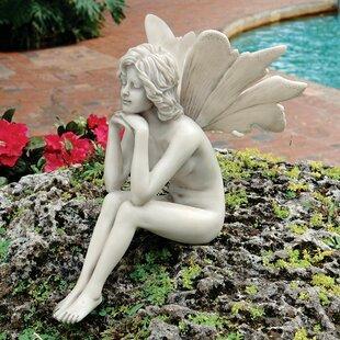 The Secret Garden Pondering Fairy Statue. By Design Toscano