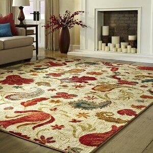 Virginia Beige/Red Area Rug