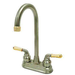 Kingston Brass Magellan Double Handle Centerset High-Arch Bar Faucet