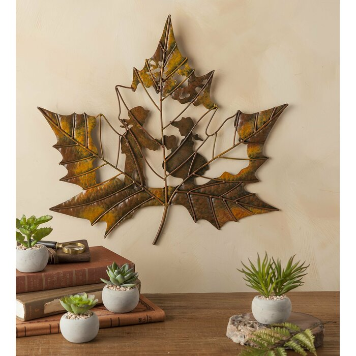 Children On Leaf Cutout Wall Decor