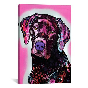 Black LabGraphic Art on Canvas by East Urban Home