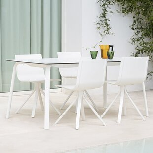Stack Rectangle Aluminum 5 Piece Dining Set By Gandia Blasco