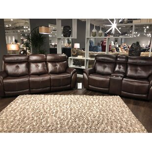Rustic Leather Living Room Sets You\'ll Love | Wayfair