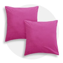 Velour large pillow shell soft pink