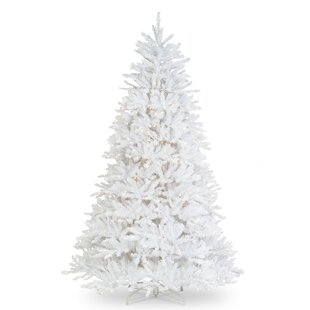 65 white fir artificial christmas tree with 650 clear lights - Cheap White Christmas Tree