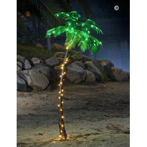Pre-Lit LED 96 Light Palm Tree