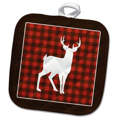 3dRose  Buffalo Plaid Buck Potholder