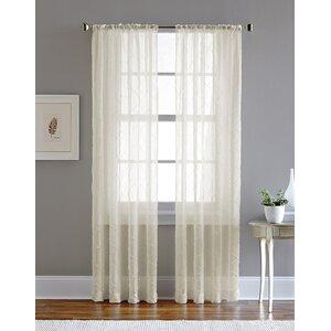Pintuck Solid Sheer Single Curtain Panel