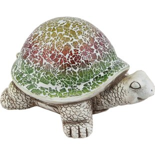 Bomers Large Cement Mosaic Turtle Statue