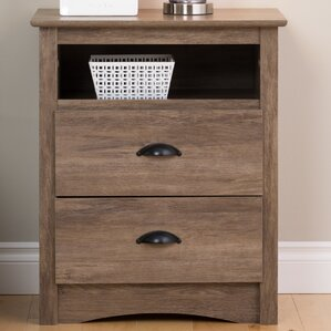 June 2 Drawer Nightstand by Laurel Foundry Modern Farmhouse