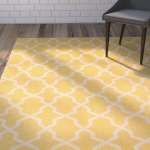 Miranda Hand-Loomed Yellow/Ivory Area Rug