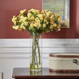 Large flower arrangements youll love wayfair japanese silk flower arrangement in glass vase mightylinksfo
