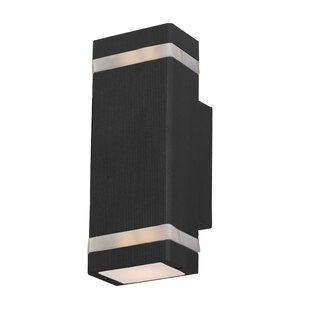 Inexpensive Leilla 2-Light LED Metal Shade Outdoor Sconce By Orren Ellis