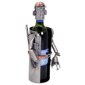 Hunter 1 Bottle Tabletop Wine Rack by H & K SCULPTURES